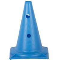Конус спортивный для разметки с отверстиями 32 см. Синий
