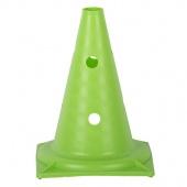 Конус тренировочный для разметки с отверстиями 32 см. Зеленый