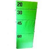 Набор прыжковых тумб (Плиобокс) 4 шт. Салатовый