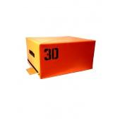 Тумба для прыжков оранжевая 30 см