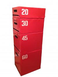 Набор прыжковых тумб (Плиобокс) 4 шт. Красный