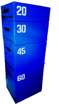 Набор прыжковых тумб (Плиобокс) 4 шт. Синий